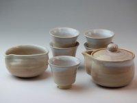 Japanese tea set pot cups yusamashi Houhin himedo pottery tea strainer 200ml
