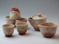 Japanese tea set pot cups yusamashi Houhin Kobiki pottery tea strainer 160ml