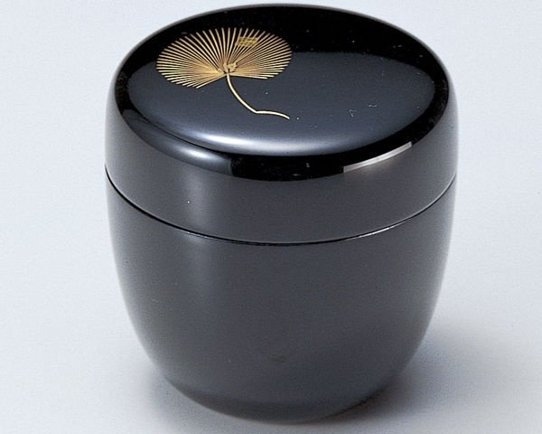 Photo2: Tea Caddy Japanese Natsume Echizen Urushi lacquer Matcha container gold pine