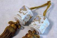 Weight for Japanese hanging scroll FUCHIN stone Kutani porcelain Hakuchibu tesse