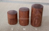 Japanese Tea Caddy container Pagoda Tree wood Hokkaido handcrafted any size