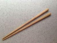 Japanese wooden chopsticks hexagonal chestnuts kuri 23cm set of 2