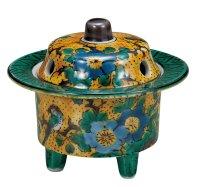 Kutani Porcelain Japanese incense burner koro yoshidaya H 7.5cm