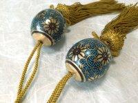Weight for Japanese hanging scroll FUCHIN stone Kutani porcelain aochibu gold ma