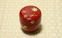 Tea Caddy Japanese Natsume Echizen Urushi lacquer Matcha container sakura momiji