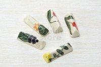 Shigaraki pottery tsuchi etsuke 5 colors Japanese chopsticks rest set of 5