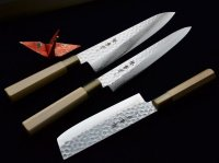 SAKAI TAKAYUKI Damascus 45 layers hammered in alloy steel any type