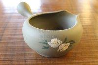 Tokoname pottery YT Japanese Yusamashi tea tool Shunjyu flower camellia 360ml