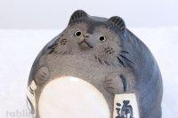 Shigaraki pottery Japanese figurineTanuki Raccoon Dog Ofuku H17cm