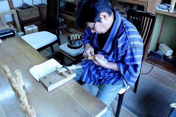 Photo5: Japanese Chasen Black Bamboo Whisk Shitiku Shin Yasaburo Tanimura of Suikaen