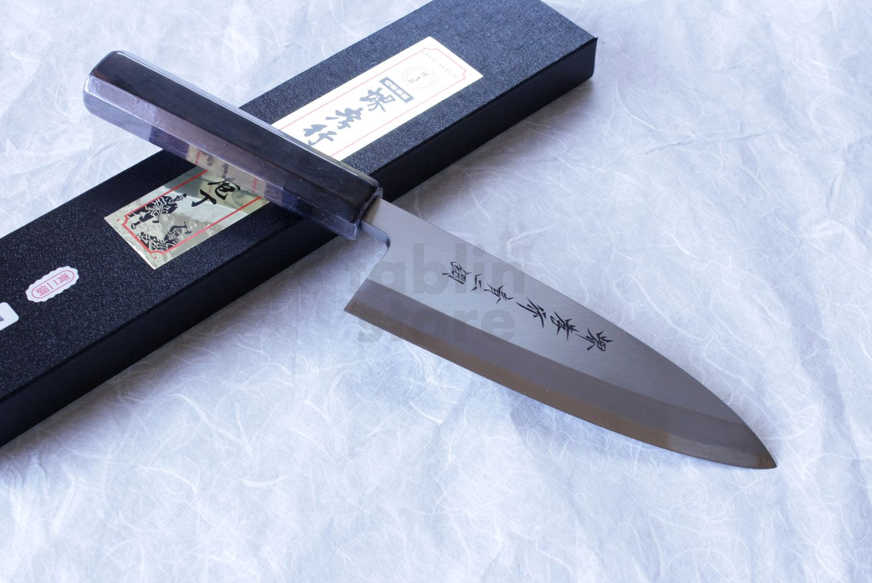 SAKAI TAKAYUKI Japanese knife Aonikou Yasuki Blue-2 Steel Ebony wood Deba knife