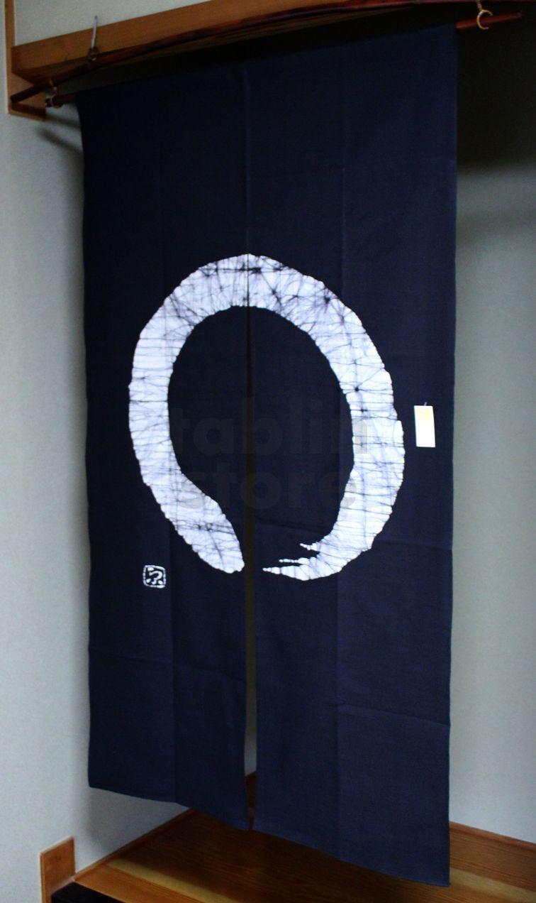 Kyoto Noren Sb Japanese Batik Door Curtain En Enso Circle