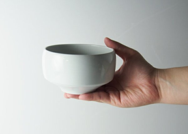 Photo1: Hasami Porcelain Japanese matcha bowl Shironeri white