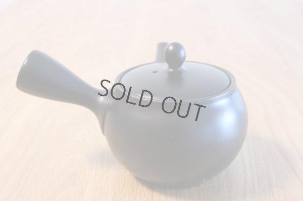 Photo5: Tokoname yaki ware Japanese tea pot morimasa black ceramic tea strainer 360ml