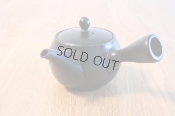 Photo2: Tokoname yaki ware Japanese tea pot morimasa black ceramic tea strainer 360ml
