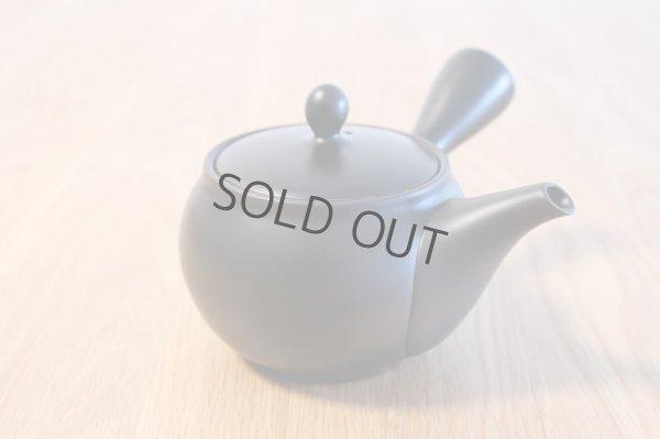 Photo3: Tokoname yaki ware Japanese tea pot morimasa black ceramic tea strainer 360ml