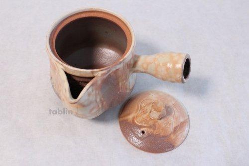 Other Images2: Hagi yaki ware Japanese tea pot Koen mire kyusu pottery tea strainer 520ml