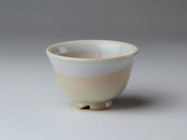 Photo3: Hagi yaki ware Japanese Sake bottle and Sake cup set Yusho shuki