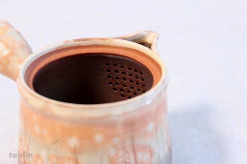 Other Images1: Hagi yaki ware Japanese tea pot Koen mire kyusu pottery tea strainer 520ml