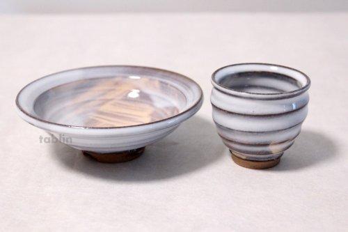 Other Images3: Hagi yaki ware Japanese Sake bottle and Sake cup set Sakezoroe Keichiro