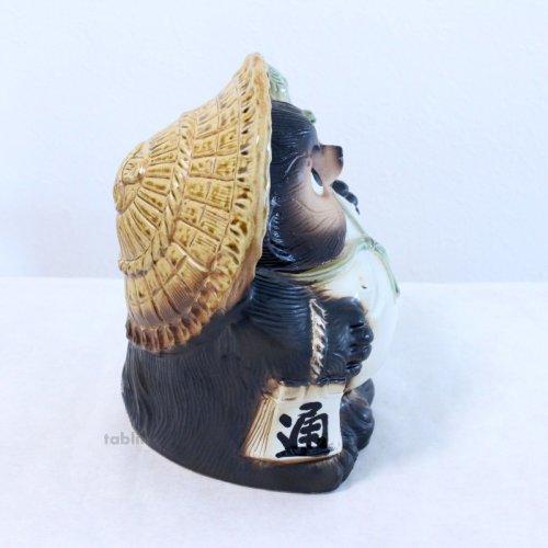 Other Images2: Shigaraki pottery Japanese Tanuki Cute Raccoon Dog fukufuku H25cm