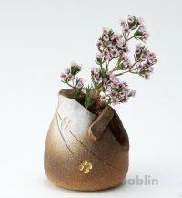 Shigaraki pottery Japanese small vase tebukuro flower H 8.5cm