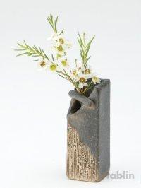 Shigaraki pottery Japanese small vase teoke amanokawa H 13cm