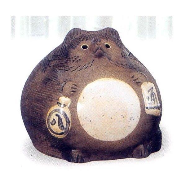 Photo5: Shigaraki pottery Japanese figurineTanuki Raccoon Dog Ofuku H17cm