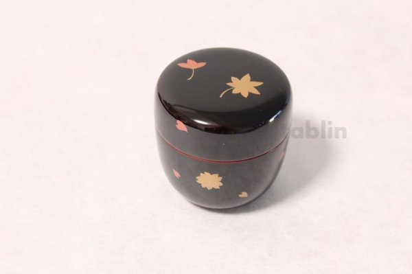 Photo2: Tea Caddy Japanese Natsume Echizen Urushi lacquer Matcha container sakura momiji
