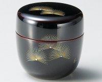 Tea Caddy Japanese Natsume Echizen Urushi lacquer Matcha container pine ougi
