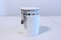 Tea Caddy Japanese tea container ZERO JAPAN ceramics 100g white