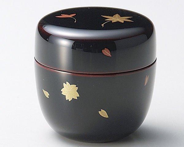 Photo4: Tea Caddy Japanese Natsume Echizen Urushi lacquer Matcha container sakura momiji