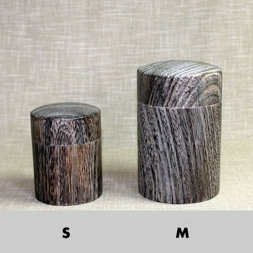 Other Images2: Tea Caddy wooden fired wood tea container made from natural wood size:M