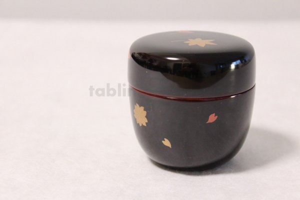 Photo3: Tea Caddy Japanese Natsume Echizen Urushi lacquer Matcha container sakura momiji
