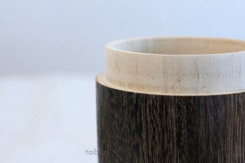 Other Images1: Tea Caddy wooden fired wood tea container made from natural wood size:M