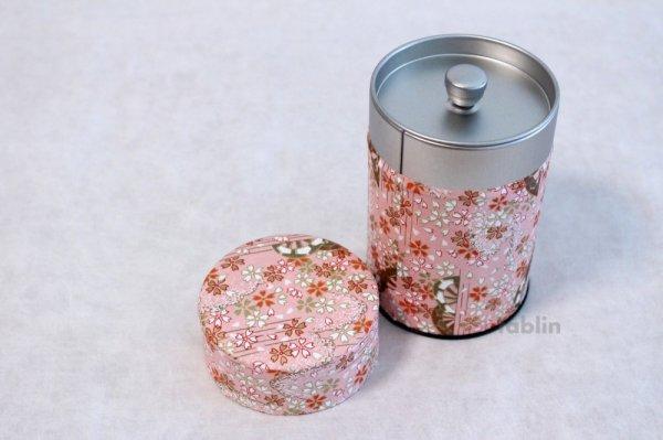 Photo4: Tea Caddy Japanese paper tea container Sakura M