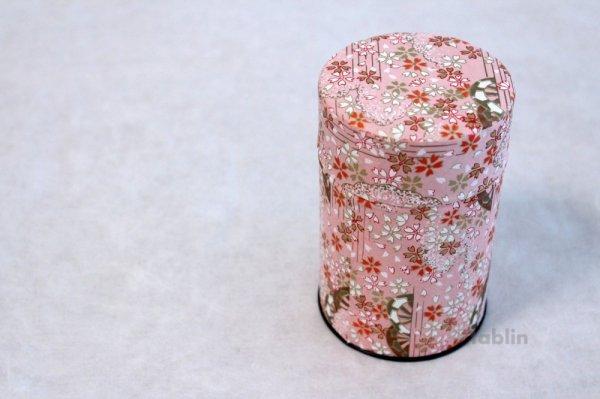 Photo3: Tea Caddy Japanese paper tea container Sakura M