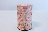Tea Caddy Japanese paper tea container Sakura M