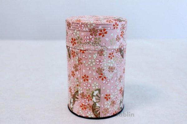 Photo1: Tea Caddy Japanese paper tea container Sakura M