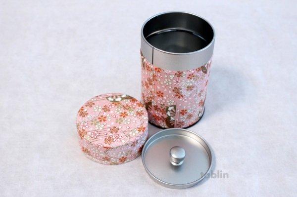 Photo5: Tea Caddy Japanese paper tea container Sakura M