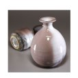 Photo3: Hagi ware Senryuzan climbing kiln Japanese sake bottle & cup set Youhen (3)