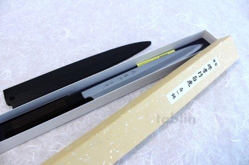 Other Images3: SAKAI TAKAYUKI Japanese knife Byakko Yasuki White-1 steel Yanagiba (Sashimi)