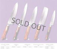 SAKAI TAKAYUKI Japanese knife 17 Layers hemmered Damascus steel Sugihara model