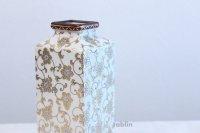 Kutani porcelain Hakuchibu gold Japanese bud vase H21cm
