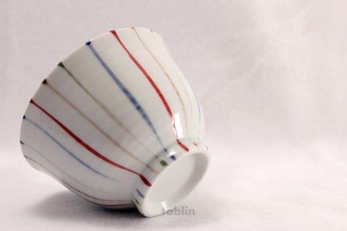 Other Images1: Tokoname yaki ware chigusa line Japanese tea cup (set of 5)