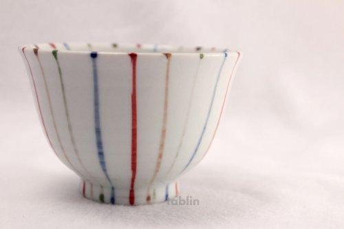 Other Images2: Tokoname yaki ware chigusa line Japanese tea cup (set of 5)