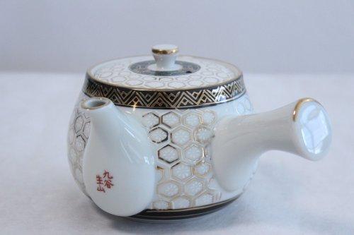Other Images1: Kutani Porcelain Futatuki Yunomi kikko haku Japanese tea cups & tea pot set