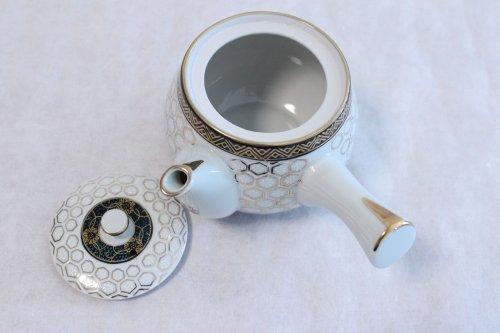 Other Images2: Kutani Porcelain Futatuki Yunomi kikko haku Japanese tea cups & tea pot set