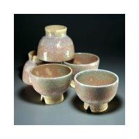 Hagi ware Senryuzan climbing kiln Japanese yunomi tea cups kumidashi set of 5