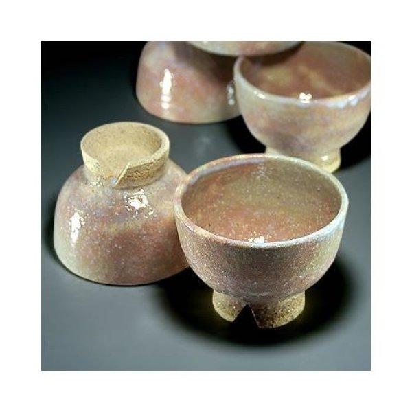 Photo2: Hagi ware Senryuzan climbing kiln Japanese yunomi tea cups kumidashi set of 5